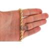 "10K Yellow Gold Diamond Cut Hollow Rope Chain 5.5 mm 26 28 30"""