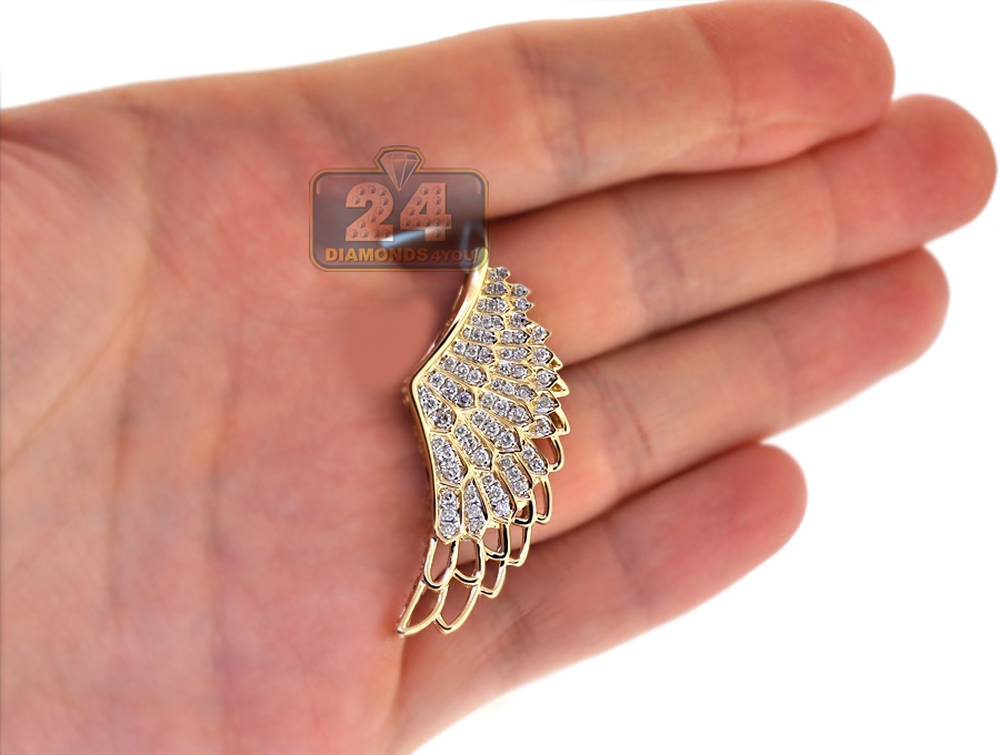 double angel wing pave pendant jewellery silver azendi pav