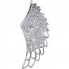 Mens Diamond Open Angel Wing Pendant 14K White Gold 0.84ct
