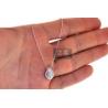 Womens Diamond Pear Shape Pendant Necklace 14K White Gold .37ct