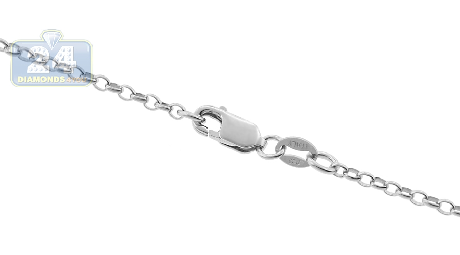 High Polished Sterling Silver Open Round Rolo 015 Chain 1.5mm