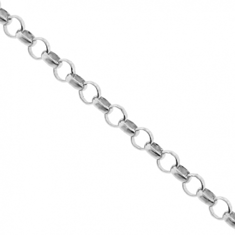 Solid 925 Silver Rolo Cable Mens Chain 3 mm 18 20 22 24 30 inch