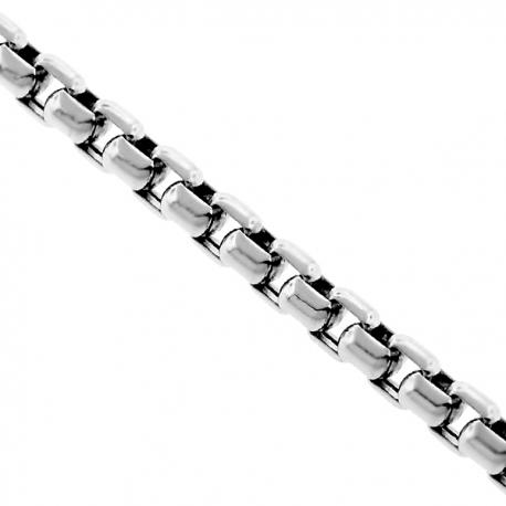 "Sterling Silver Venetian Box Mens Chain 2.3 mm 22 24 26 28 30 36"""