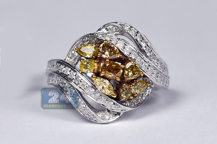 wh rings ring cluster ladies gold round engagement diamond