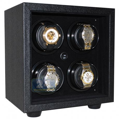 Quad Watch Winder Box W21609 Orbita Insafe 4 Black