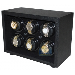 Orbita Insafe 6 Open Front Watch Winder W21611 Black