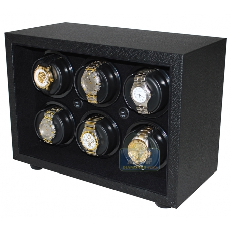 Six Automatic Watch Winder Box W21611 Orbita Insafe 6 Black