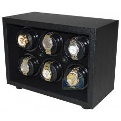Orbita Insafe 6 Open Front Watch Winder W21611 Black