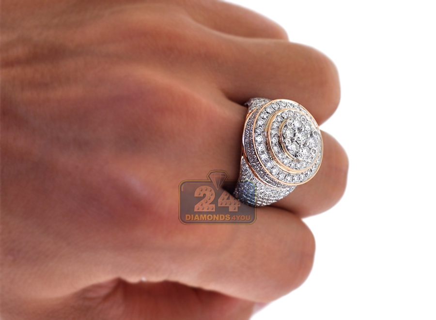 Mens Diamond Signet Rings