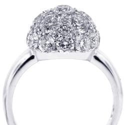 18K White Gold 3.82 ct Diamond Womens Ball Ring