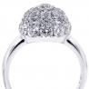 Womens Diamond Cluster Ball Ring 18K White Gold 3.82 ct