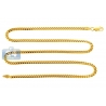 Yellow 925 Silver Miami Cuban Mens Chain 3.2 mm 18 20 22 24 26""
