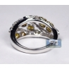 Womens Fancy Yellow Diamond Band Ring 14K White Gold 2.32 ct