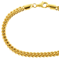 10K Yellow Gold Franco Link Mens Bracelet 4.5 mm 8.5 inches