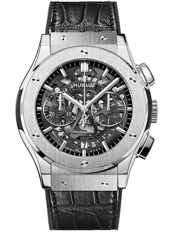 Hublot classic fusion skeleton mens watch 525 for Classic skeleton watch
