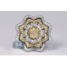 Womens Diamond Flower Ring 14K Two Tone Gold 5.24 ct