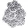Womens Diamond Pave Flower Ring 14K White Gold 1.98 ct