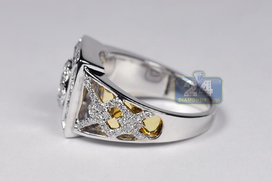 Mens 1 44 Ct Diamond Vintage Style Ring 14k Gold