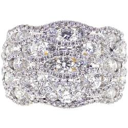 18K Yellow Gold 3.77 ct Diamond Womens Braided Ring