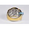 Womens Diamond Braided Ring 18K Yellow Gold 3.77 ct