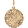 Mens Diamond Round Medallion Pendant 10K Yellow Gold 4.42 ct