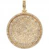 "Mens Diamond Round Medallion Pendant 10K Yellow Gold 5.67 ct 2"""