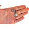 Diamond Star of David Jewish Small Pendant 10K Yellow Gold .68ct