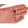 Mens Diamond Nail Cross Religious Pendant 14K Yellow Gold 1.22ct