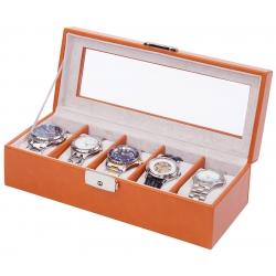 Orbita Roma 5 Watch Storage Box W93013 Saddle Leather