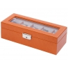 5 Watch Display Storage Box W93013 Orbita Roma Saddle Leather