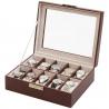 10 Watch Display Storage Box W93009 Orbita Roma Brown Leather
