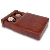 Double Watch Slipcase Travel Box L106 Rapport Portman Brown