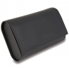 Double Watch Roll Travel Box L115 Rapport Portman Black Rubber