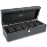 5 Watch Storage Case Box L262 Rapport Portman Black Leather