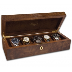 5 Watch Storage Case L274 Rapport Portman Walnut Burl Wood
