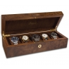 5 Watch Storage Case L274 Rapport Portman Walnut Burl Wood