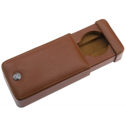 Single Watch Slipcase Travel Box D161 Rapport Brown Leather