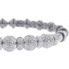 Womens Diamond Flexible Cuff Bangle Bracelet 18K White Gold 1.92ct