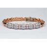 Womens Diamond Flexible Cuff Bangle Bracelet 18K Rose Gold 1.91 ct