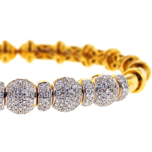 bracelet white in set pave micro diamond bangle bangles gold