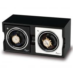 Double Watch Winder Box FR02 Rapport Evolution Black Wood