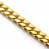 Solid 14K Yellow Gold Miami Cuban Link Mens Chain Necklace 5mm