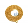 Real 14K Yellow Gold Hollow Franco Diamond Cut Mens Chain 3mm