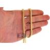 14K Yellow Gold Hollow Franco Diamond Cut Mens Chain 3.6 mm