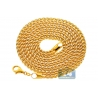 14K Yellow Gold Hollow Franco Diamond Cut Link Mens Chain 4.5 mm