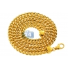 14K Yellow Gold Franco Diamond Cut Link Mens Chain 7 mm