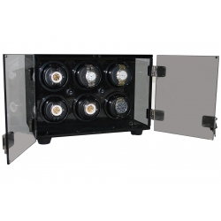 Six Watch Winder Cabinet W60138 Orbita Milano Smoked Acrylic