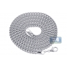 Italian 14K White Gold Hollow Franco Link Mens Chain 4.5 mm