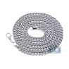 Heavy 14K White Gold Solid Franco Link Mens Chain 5.3 mm Italy
