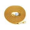 Italian 14K Yellow Gold Hollow Franco Link Mens Chain 4.5 mm